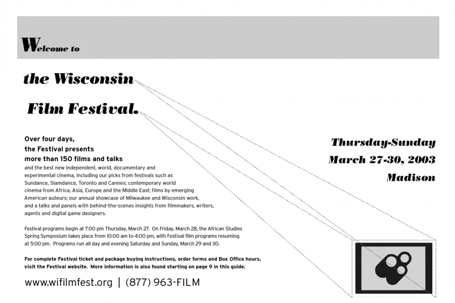 Image of 2003 WI Film Festival Guide